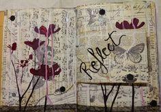 Michelle Hearnden Art journal - tim holtz tissue & drippage