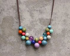 Wooden bead necklace