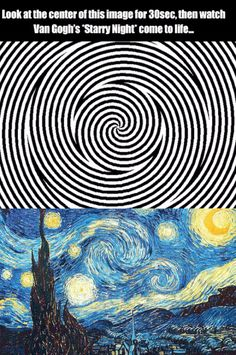 Procrastination Playground – An efficient way to waste time Van Gogh's starry night optical illusion Cool Ideas, Beste Gif, Wow Art, Cool Stuff, Random Stuff, Funny Stuff, Mind Blown, Trippy, Fun Facts