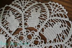 Crochet Bunny Doily, $25.00, made by Funny Bunny Crochet on Facebook or contact Debbie at dayzybell@yahoo.com