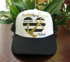 Hey, I found this really awesome Etsy listing at https://www.etsy.com/listing/274785076/trucker-hat-tastysalt-anchor-of-my-hope