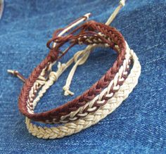 Hey, I found this really awesome Etsy listing at https://www.etsy.com/listing/95361830/3-braided-hemp-anklets-or-3-bracelets-in