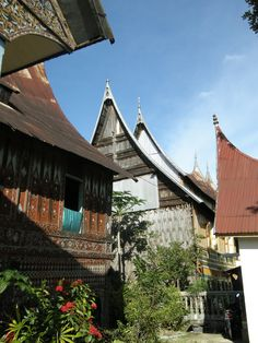 traditional Minangkabau houses, Sumatra, Indonesia, by selmadisini 2008
