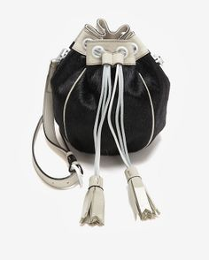 eee09e6841 Meredith Wendell EXCLUSIVE Calfhair Drawstring Crossbody Pouch Paper Bags