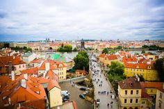 View from the East Tower of Charles Bridge