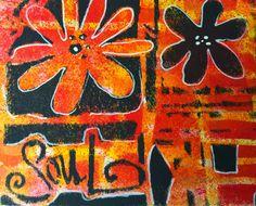 Mixed Media Art Journaling by Julia Kellogg using stencils from StencilGirl and mediums from DecoArts.