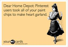 Dear Home Depot: Pinterest users took all of your paint chips to make heart garland.