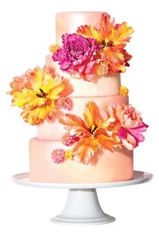 Tropical wedding cake!