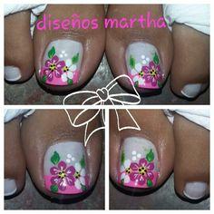 Uñas Toe Designs, Pedicure Designs, Simple Designs, Nail Art Designs, Pedicures, Manicure And Pedicure, Gel Nails, Toe Nail Des, New Nail Art Design
