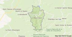 Map of Le Mont-Dore, Frankrig