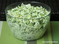Appetizer Salads, Appetizers, Polish Recipes, Tzatziki, Side Salad, Coleslaw, Kraut, Salad Dressing, Guacamole