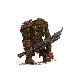 ArtStation - forgeworld/games workshop concept- orc warrior, adrian smith