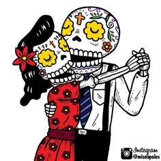 Dancing Calaveras. The day of The death Enjoy The day Slvh