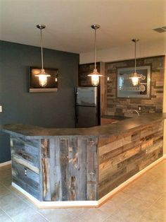 pallet wood bar counter