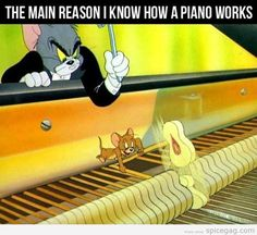 Tom & Jerry.  How the piano works.