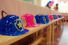 If you are thinking of throwing your children a puppy party then these 21 Awesome Paw Patrol Party Ideas will have you being creative in no time at all. Unique Birthday Party Ideas, Unicorn Birthday Parties, Birthday Fun, Birthday Party Themes, August Birthday, Fourth Birthday, Paw Patrol Birthday Decorations, Paw Patrol Party Invitations, Paw Patrol Hat