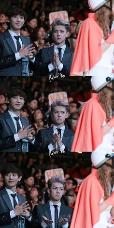 Chanyeol: Pinky just got an idea & Sehun: had no idea why he was clapping LOL