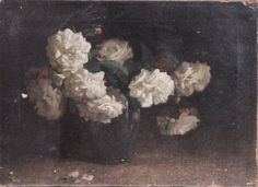 """FLORAL STILL LIFE OIL ON CANVAS  Signed lower right, 10 1/4"""" x 14 1/2""""  Estimate: $50 - $75"""