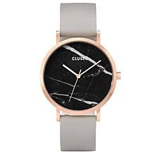 Cluse Ladies' La Roche Grey Leather Strap Watch - Product number 6427286