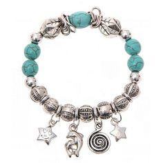 Handmade Turquoise Flowers Fashion Bracelet