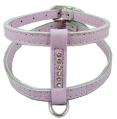 Genuine Leather Dog Harness for Toy Breeds Xsmall 1013 Chest Circumference Rhinestones Lilac * More info could be found at the image url.Note:It is affiliate link to Amazon.