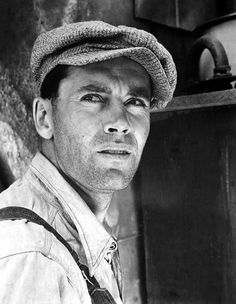 Henry Fonda on the set of The Grapes of Wrath, 1940.