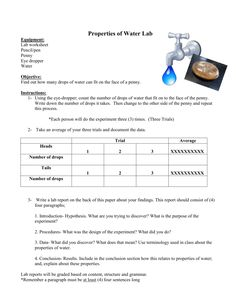 different properties of water experiments - Google Search Halloween Worksheets, Worksheets For Kids, Comprehension Exercises, Reading Comprehension, Matter Worksheets, Hydrogen Bond, Physical And Chemical Properties, Water Experiments, Chemical Property