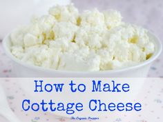 Homemade cottage cheese only has 3 simple ingredients: organic milk, vinegar or lemon juice, and a sprinkle of salt if desired. It couldn't be easier!