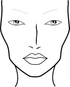 Blank Face Charts - Quoteko.com
