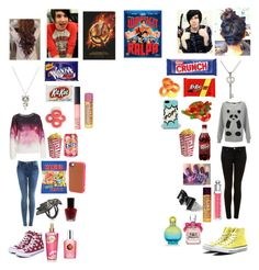 """""""Movie date with Dan and Phil"""" by julieteperry ❤ liked on Polyvore featuring The Body Shop, Victoria's Secret, Bardot, French Connection, Maria Nilsdotter, Forever 21, claire's, NARS Cosmetics, Christian Dior and Miss Selfridge"""