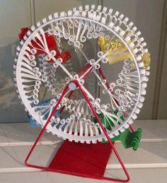 Tin Can Tramp Art Vintage Ferris Wheel by uaoomermaid on Etsy, $75.00