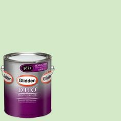 Glidden DUO 1-gal. #GLG19 Mint Shake Semi-Gloss Interior Paint with Primer-GLG19-01S - The Home Depot