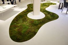 Azuma Makato's biodegrable moss planter is manufactured from plant-derived polylactic acid, which allows it to eventually fade away and return to nature.