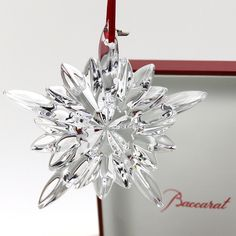 """Baccarat Crystal 2013 Star Noel COURCHEVEL Christmas 4"""" Ornament New in Box 