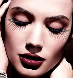 Larger than Life lashes! Get ones just like these here: http://rubybox.co.za/makeup/eyes/false-eyelashes/ready-to-wear-pre-glued-lashes.html?utm_source=pinterest.com_medium=eyes_campaign=eylure+lashes
