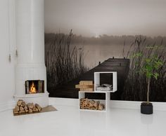 Wall mural R13581 Misty Lake