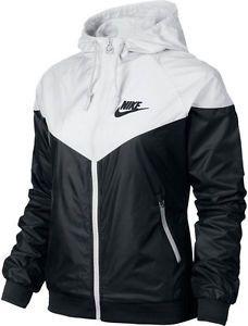 best loved c7659 deab2 Nike WindRunner Womens Jacket Windbreaker Hoodie Black White 545909-011