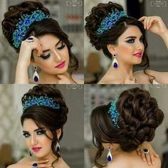 Pin by esmeralda diaz on hairstyles in 2019 Quince Hairstyles, Wedding Hairstyles For Long Hair, Elegant Hairstyles, Bride Hairstyles, Bandana Hairstyles, Casual Hairstyles, Curly Hair Styles, Natural Hair Styles, Bridal Hair Updo