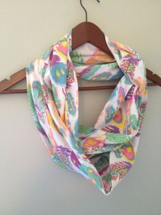 Jersey Infinity Scarf / Pastel Feathers by LilyAlyssaBoutique, $19.00