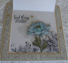A Stampin' Up! Flip Cards, Folded Cards, Dies By Dave, Sewing Projects, Projects To Try, Stampin Up Cards, Cardmaking, Paper Crafts, Stamping