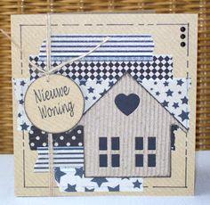 Annemieke's creatieve kaarten: Craft papier met Washi tape...