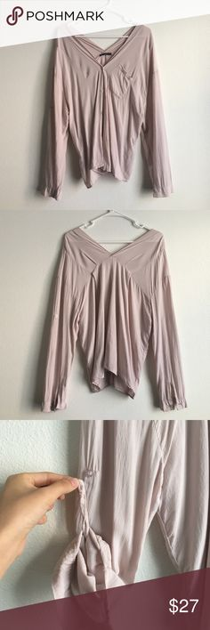 Rare Blush Pink Brandy Melville Estelle Top Super cute and comfortable Estelle top! This is a rare color! 4th photo shows super tiny opening area that's not even a hole Brandy Melville Tops Blouses