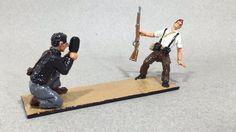 """Vintage lead Toy and Model Soldiers: """"Muerte de en miliciano"""" 1936-39 ALYMER"""