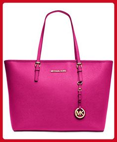 MICHAEL Michael Kors Top-Zip Large Tote Raspberry - Top handle bags (*Amazon Partner-Link)