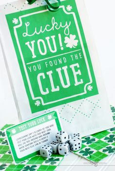 St. Patrick's Day Scavenger Hunt- free downloadable clue cards
