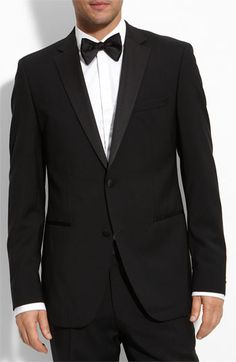 BOSS HUGO BOSS 'The Stars Glamour' Trim Fit Wool Tuxedo (Free Next Day Shipping) available at #Nordstrom