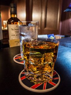 """Samboa Bar Asakusa 3/4 """"Samboa's"""" whisky collection is simply staggering. We went for the 1996 Owner's Cask, a single cask single malt bottled by Suntory just for the bar. (Believe it or not, this one was on the rocks, served over one perfectly spotless piece of handmade ice.) #Asakusa, #Samboa, #bar, #whisky, #single, #malt, #cask, #ice ©2015 Grigoris A. Miliaresis"""