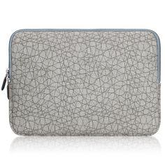 2e94090da5 Amazon.com  Arvok 17 17.3 Inch Leaf Vein Grey Canvas Fabric Laptop Sleeve