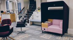 Interface World Woven Collection looking great in our Manchester showroom