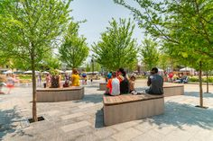 """MKSK creates a centerpiece for Lawrenceburg's new """"entertainment district"""" Urban Landscape, Landscape Design, Indiana Cities, Oldest Whiskey, Ohio River, Urban Setting, Conceptual Design, Green Rooms, Outdoor Furniture Sets"""
